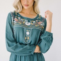 Mayan Embroidered Boho Maxi - Two Colors!