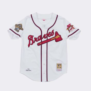 Mitchell & Ness Chipper Jones Authentic 1995 World Series Jersey Atlanta Braves