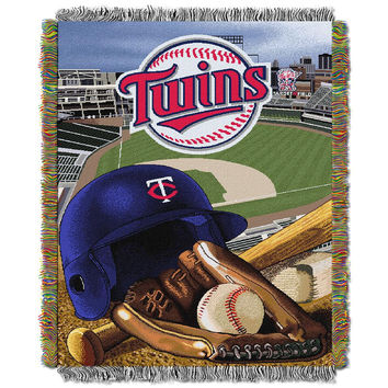 Minnesota Twins MLB Woven Tapestry Throw (Home Field Advantage) (48x60)