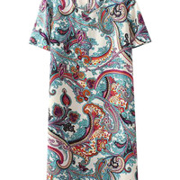 Retro Print Loose Dress