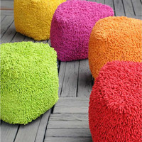 Vivid Pouf - Buy Hand Made Cotton Pouf Online Free Shipping Worldwide – The Rug Republic
