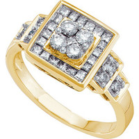Diamond Fashion Ring in 14k Gold 0.75 ctw