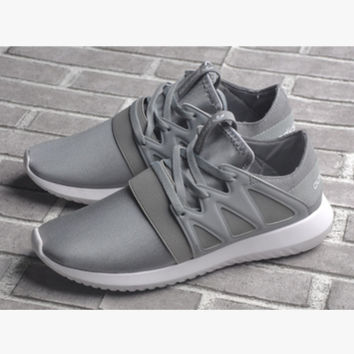"""Adidas"" Women Men Running Sport Casual Shoes Sneakers Grey"