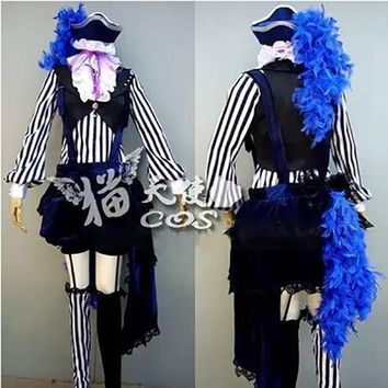 Anime Black Butler Kuroshitsuji Cosplay Ciel Phantomhive Circus Costume Whole Set