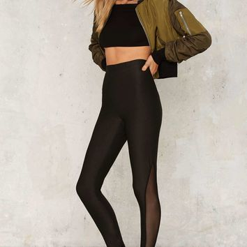 Glamorous Dance to the Underground Mesh Leggings