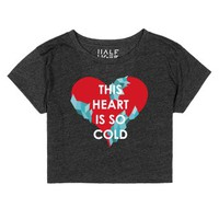 This Heart Is So Cold-Female Heather Onyx T-Shirt