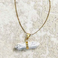 Vertical Marble Halls Crystal Necklace- Gold One