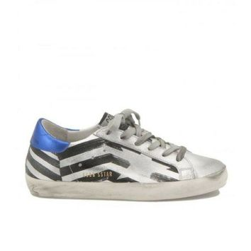 DCCKIG3 Golden Goose Deluxe Brand Metallised Leather Sneakers