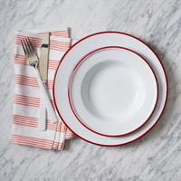 Enamelware Dinnerware Set - Red