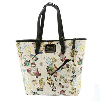 Disney Tinkerbell Tattoo Tote Bag Purse by Loungefly