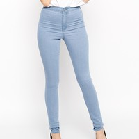 ASOS Rivington High Waist Denim Jeggings in Palace Wash