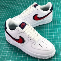 Nike Air Force 1 Low Chenille Swoosh Fashion Shoes Sale