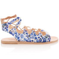 Antigone Eye Print Sandals