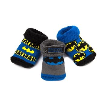 Crib Batman Socks 3 Pack, Multi, at Journeys Shoes