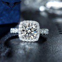 2 Carat Moissanite Engagement Ring
