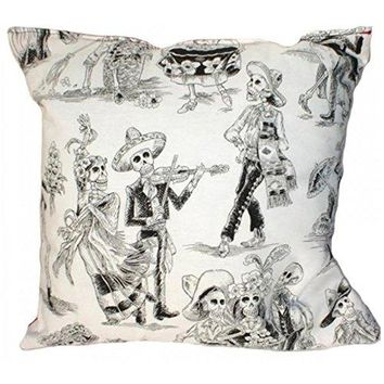 Hemet Day of The Dead Mexican Inspired Festive dancing Throw Pillow Punk Rock
