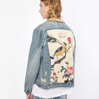 Song of Birds Vintage Denim Jacket
