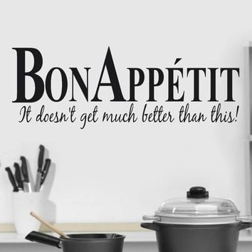 Bon appetit! Decal wall art for the best kitchen!