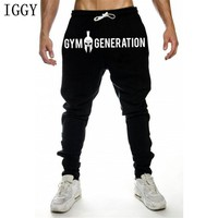 Autumn New Gyms joggers Men Workout Fitness Print Cotton Gyms Pants Sweatpants Bodybuilding Pants Men Skinny Trousers Plus Size
