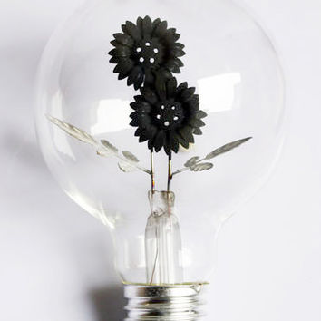 Flower Light Bulb, Flower Night Light - 220V - E27 - Special Glowing Bulb - edison bulb - Sunflower, Morning glory, Rose - Wedding Decor