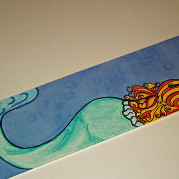 Hand Drawn Mermaid Bookmark
