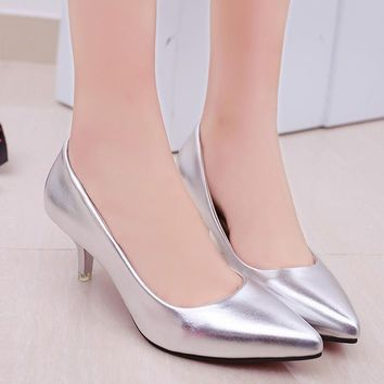 Women Pointed Toe High Heels Fashion Sexy Shoes Women Pumps Wedding Shoes Business Working Shoes Woman Zapatos Mujer