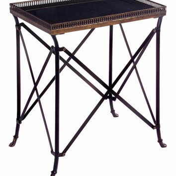 IMAX Classy Rectangular Black Accent Table