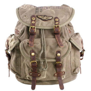 Cool distressed canvas backpacks unisex from Vintage rugged canvas bags