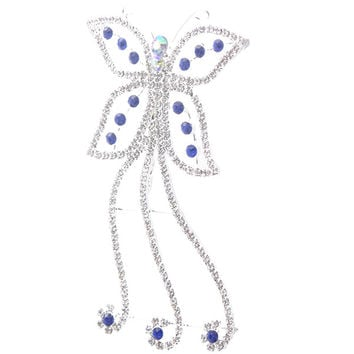 Stylish Blue Hair Comb / Hair Jewelry for Wedding or Special Event