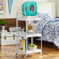 Open Shelving Storage Rolling Cart