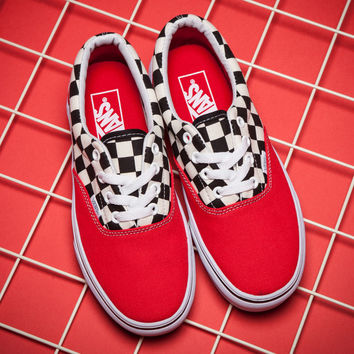 Trendsetter VANS ERA Canvas Old Skool Checkerboard Tartan Sneakers Sport Shoes