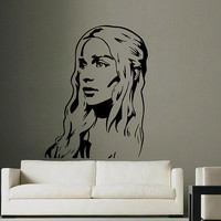 ik2927 Wall Decal Sticker Mother Of Dragons Daenerys Game of Thrones bedroom living room