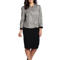 Jones New York Women's Short Roll Collar Jacket