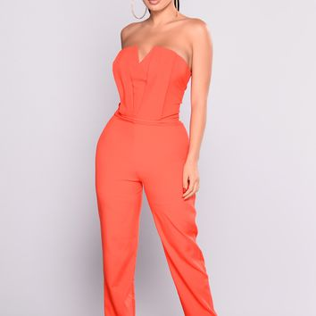 Miss Moody Jumpsuit - Red