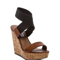 Steve Madden Roper Wedge in Cognac Multi