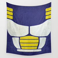 Minimalist saiyan armor ( Dragon ball z ) Wall Tapestry by TxzDesign