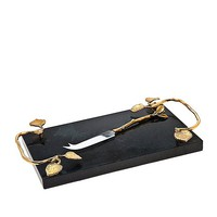 Godinger La Cucina Marble Cheese Board with Knife | HSN