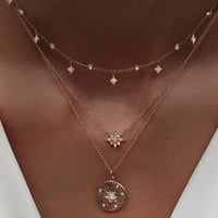 New Arrival Jewelry Shiny Gift Stylish Pendant Diamonds Necklace [10436859661]