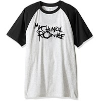 My Chemical Romance Punk Band 2017 summer men's t-shirts letter print funny raglan t shirts brand-clothing top hip hop harajuku
