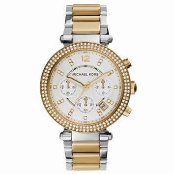 Parker Two-Tone Stainless Steel Watch   Michael Kors