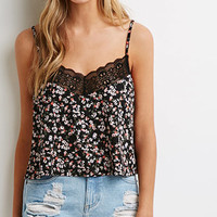 Ditsy Floral Lace-Trimmed Cami