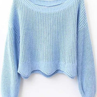 Cupshe Baby Got Back Wave Sweater