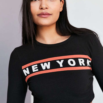 Truly Madly Deeply Destination Long-Sleeve Crop Tee - Urban Outfitters