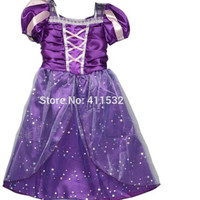 Fantasia Vestidos Children Kids Cosplay Dresses Rapunzel Costume Princess Wear Perform Clothes