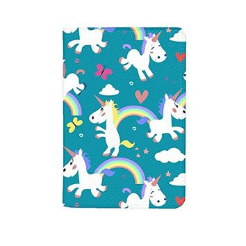 Cute Unicorns Leather Business ID Passport Holder Protector Cover_SUPERTRAMPshop