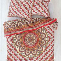 Magical Thinking Pyaar Medallion Duvet Cover- Red