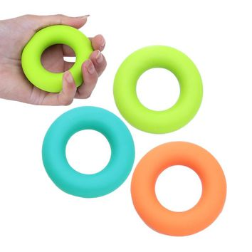 3pcs Silicone Hand Grip O Shape Healthy Strength Finger Hand Power Training Ring