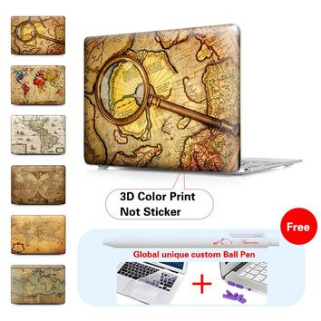 1778 World Map Matte Surface Cover Case For Apple Macbook Air 11 13 Pro 13 15 Pro Retina 13 15 Laptop Case For Mac Air 13 Case