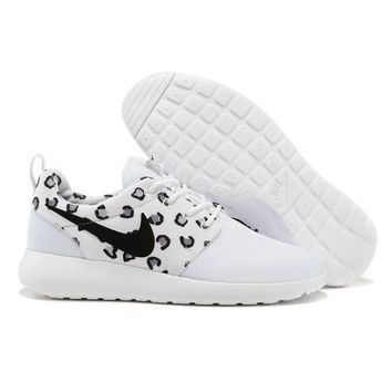 Nike Roshe Wmns White Leopard Running Sport Casual Sneakers Shoes - Ready Stock