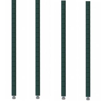 "Commercial Walk-In Box Heavy Duty Green Epoxy Posts for Shelving 33"" (Pack of 4)"